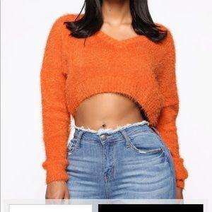 Orange rust colored sweater